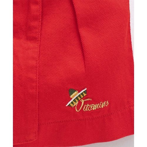 Vitamins Shorts With Bow Applique - Red