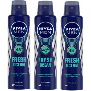 Nivea Men Fresh Ocean Deodorant Combo Body Spray - For Men(450 ml, Pack of 3)