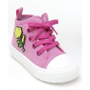 Cute Walk by Babyhug Canvas Shoes - Pink White