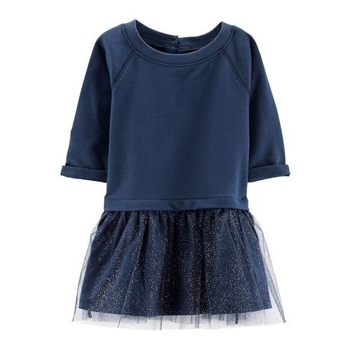 25dc7f874 Buy Carter's French Terry Tutu Dress - Navy Blue online | Looksgud.in