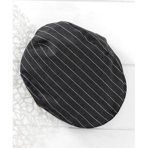 Mark & Mia Black Striped Full Sleeves Romper With Cap