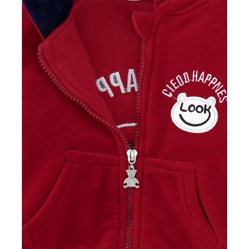 Kookie Kids Hooded Sweat Jacket & Lounge Pant - Red