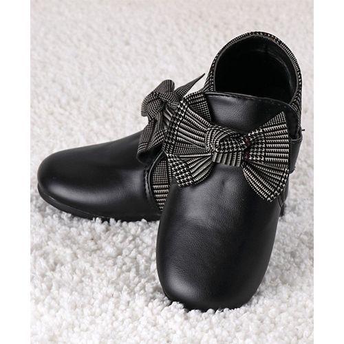 Kidlingss Black Bow Applique Boots