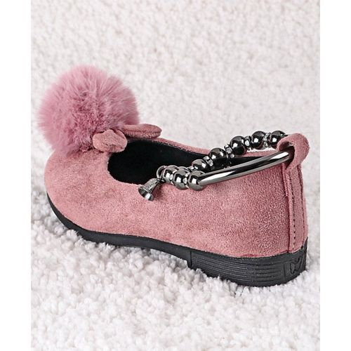 Kidlingss Pink Sandals With Pom Pom Detail