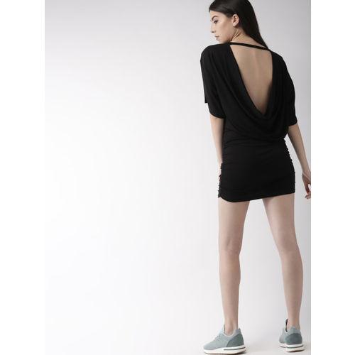 FOREVER 21 Kendall + Kylie Women Black Solid Drop-Waist Dress