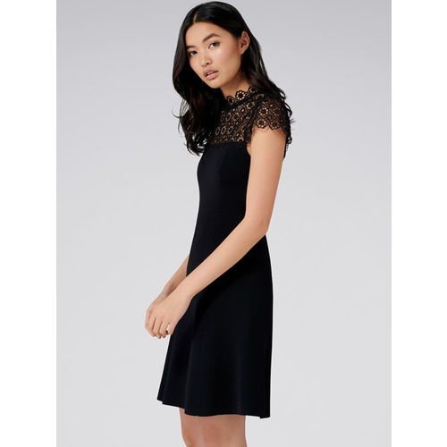 Forever New Women Black Solid A-Line Dress