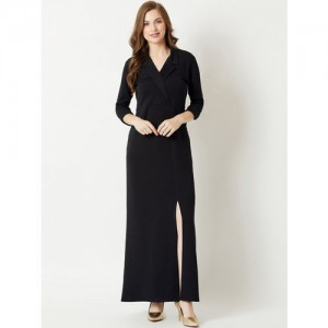 Miss Chase Women Black Solid Maxi Dress