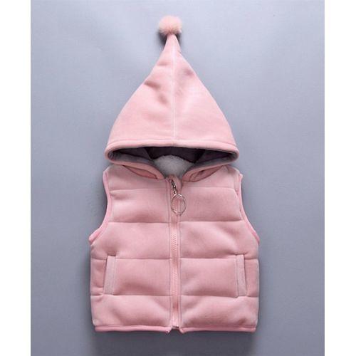 Pre Order - Awabox Deer Patch Sweatshirt With Jacket & Bottom Set - Pink