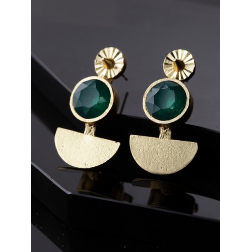 DIVA WALK Gold-Plated & Handcrafted Contemporary Studs