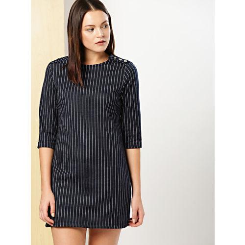 388d19a6d5 Buy her by invictus Women Navy Blue Striped Sheath Dress online ...