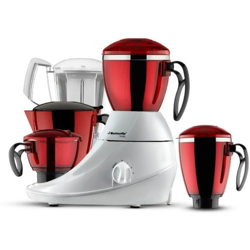 Butterfly Desire 750 W Juicer Mixer Grinder(Red, 4 Jars)