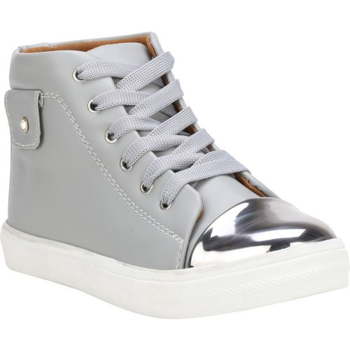 BILLI SHU Grey Synthetic Lace Up Casual Shoes