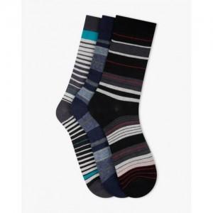 ELLIS Striped Mid-Calf Length Pack of 3 Socks