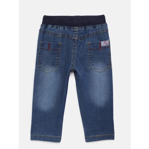612 league Boys White & Navy Blue Printed Clothing Set