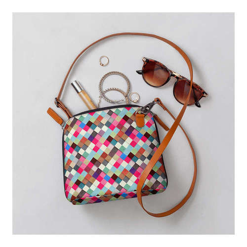 DailyObjects Multicoloured Checked Sling Bag