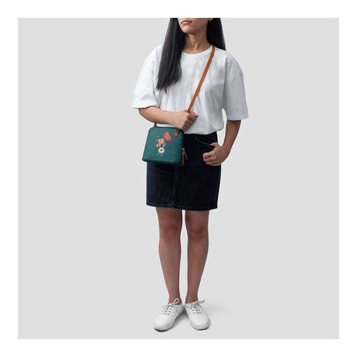 DailyObjects Trapeze Sling Crossbody Bag For Women And Girls- Multicolour