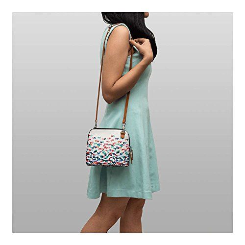 DailyObjects White Printed Sling Bag