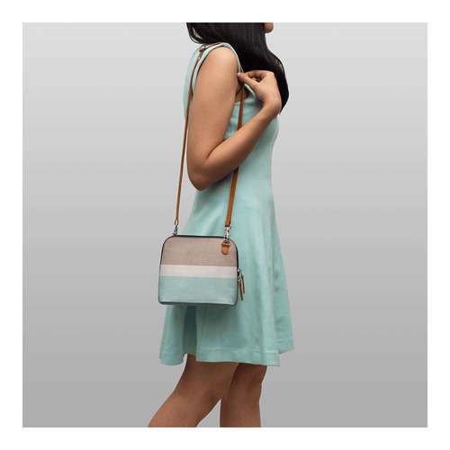 DailyObjects Turquoise Blue & Mauve Colourblocked Sling Bag