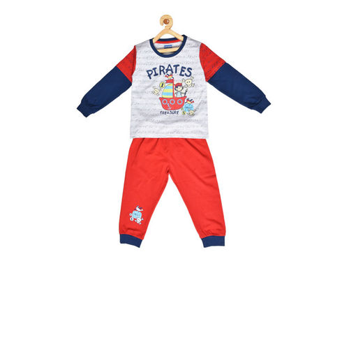 BORN WEAR Kids Red & Grey Clothing Set