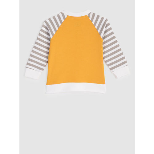 YK Boys Yellow & Grey Printed T-shirt with Trousers