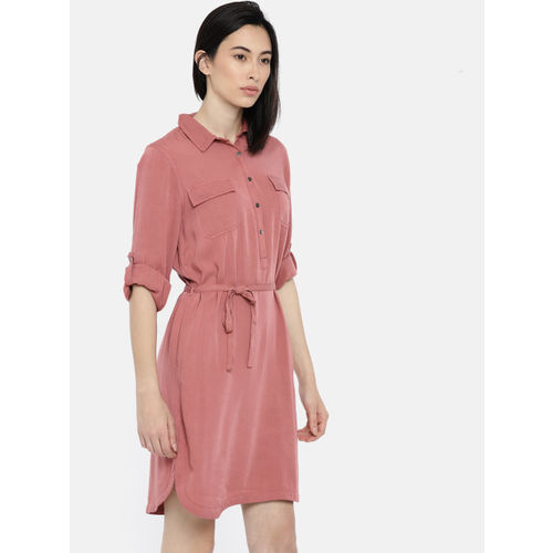 Fame Forever by Lifestyle Pink Shirt Dress