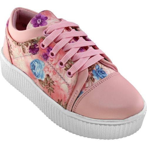 NMD Women's/Ladies/Female/Girls Trendy Fashionable Lightweight Comfortable Partywear, Casual Sneakers wear Lace-Up Shoes Sneakers For Women(Pink)