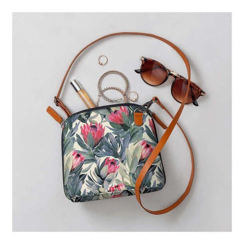 DailyObjects A Painted Protea Pattern - Trapeze Crossbody Bag