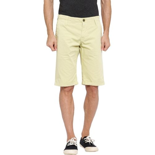 Showoff Solid Men's Beige Chino Shorts
