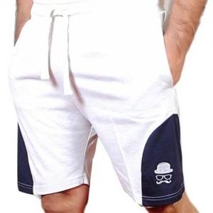 TRINITY JEANS COMPANY Solid Men White, Blue Basic Shorts
