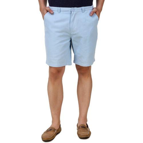 Denver Embroidered Men's Blue Sports Shorts