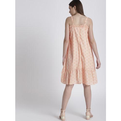 Chemistry Women Pink Printed Drop-Waist Dress