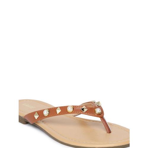 Lavie Women Tan Brown ERIS Open Toe Flats
