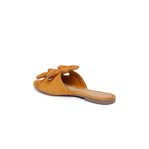 Catwalk Women Tan Brown Solid Open Toe Flats