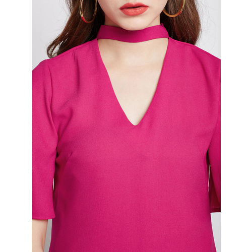 RARE Women Pink Solid A-Line Dress