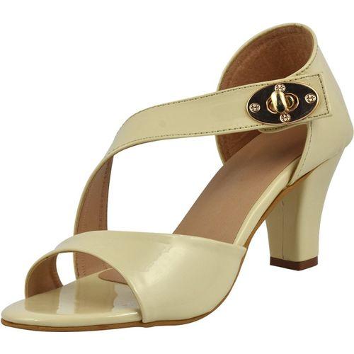 Kozee Fashion Off White Patent Leather Heels