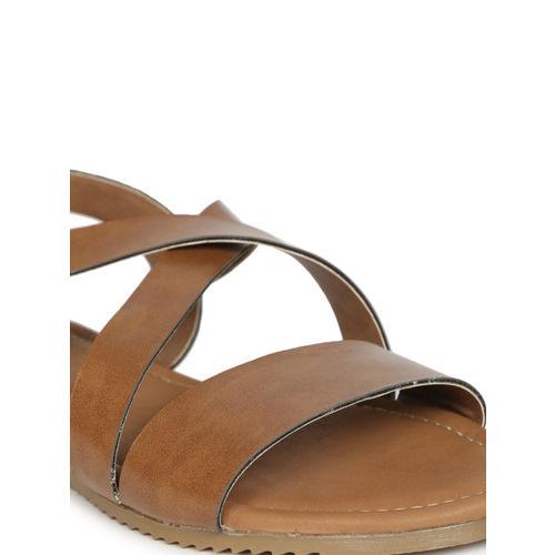 Lavie Women Tan Brown Solid Open Toe Flats