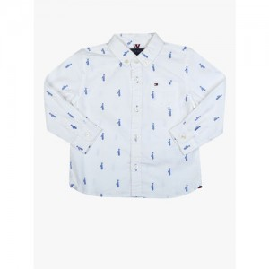 Tommy Hilfiger White Regular Fit Casual Shirt