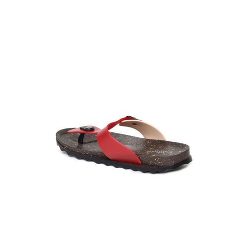 Ginger by Lifestyle Red c T-Strap Flats