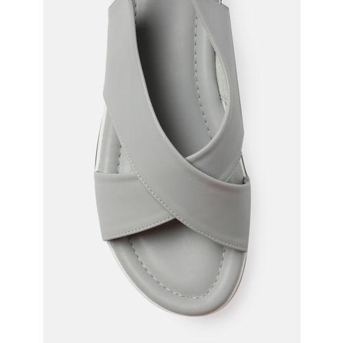 Kook N Keech Women Grey Solid Open Toe Flats