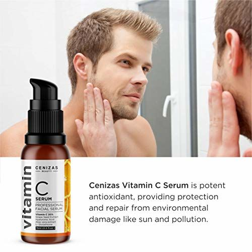Cenizas 20% Vitamin C Facial Serum With Hyaluronic Acid - Anti Wrinkle & Anti Ageing - 15ML