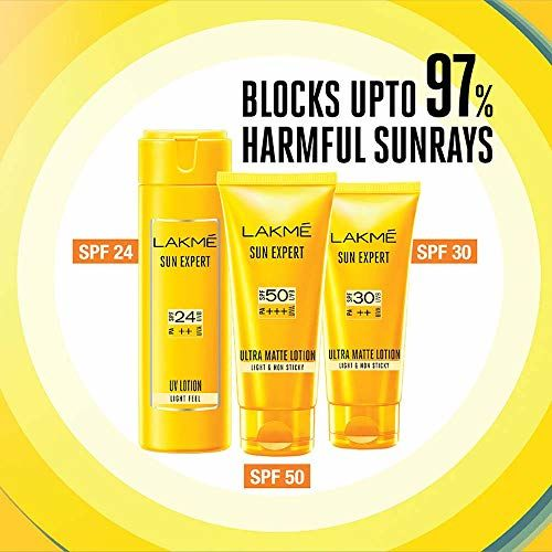 Lakmé Lakme Sun Expert Ultra Matte SPF 50 Gel Sunscreen, 50ml