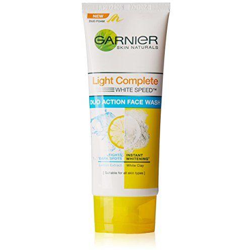 Garnier Skin Naturals, Light Complete Double Action Facewash, 100g