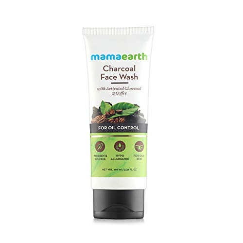 Mamaearth Charcoal Natural for oil control and pollution defence 100 ml - For Oily Skin - SLS & Paraben Free Face Wash(100 ml)