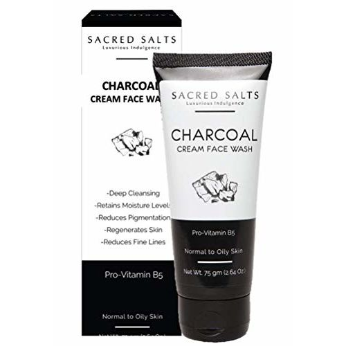 Sacred Salts Charcoal Cream Face Wash for Men & Women