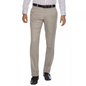 Flags Grey Solid Formal Trouser