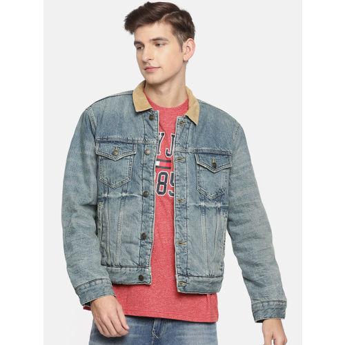 Tommy Hilfiger Men Blue Solid Denim Jacket