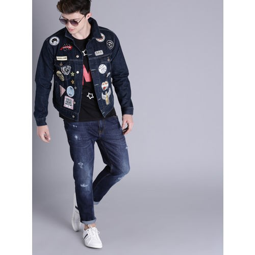 Kook N Keech Blue Denim Jacket with Applique Detail