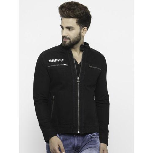 Monteil & Munero Men Black Solid Denim Jacket