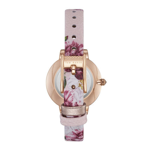 Ted Baker Women Rose Gold Leather Analogue Watch TE50005010