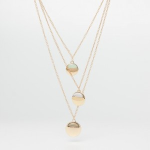 GINGER Golden Layered Necklace With Pendants